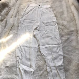 Pants - Italian vintage high waisted White trousers